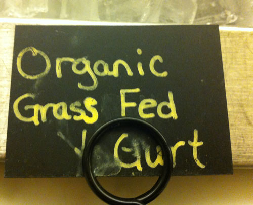Organic grass-fed yogurt